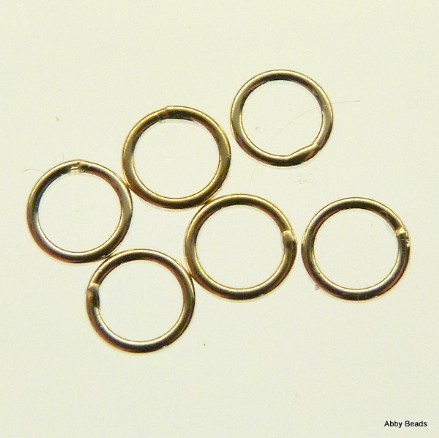 10 X 5 mm Sterling Silver closed jump rings 0 .8 mm or 20 gauge